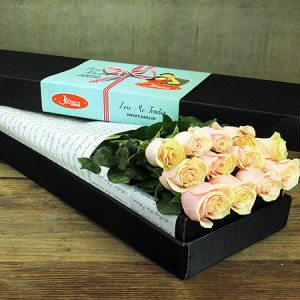 12 Long Stem Roses (Mondial Pink) - Sydney Only