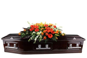 Orange Garden Flower Casket
