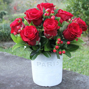 Paris Red Roses (Perth Only)