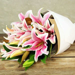 Perfumed Pink Oriental Lilies Delivered