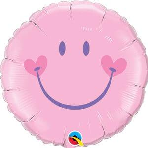 Pink Smiley Face Balloon