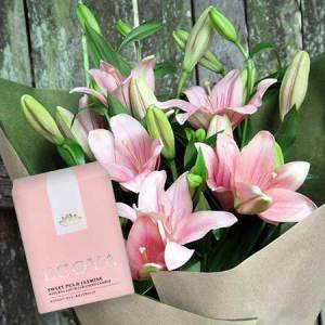 Pink Tiger Lilies & Ecoya Candle