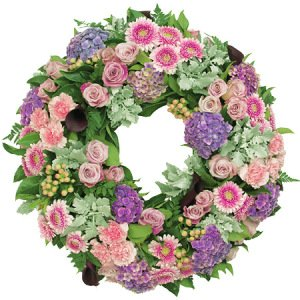 Premium Pink Sympathy Wreath Delivered