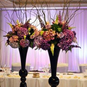 Purple & Lilac Tall Floral Displays