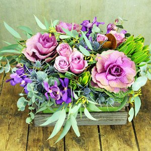 Purple Winter Flower Box (Sydney Only)