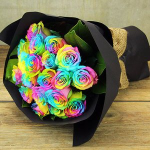 Rainbow Rose Delivery in Melbourne