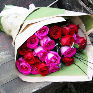 Raspberry Rose Bouquet - Sydney Only