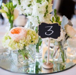 Reception Guest Table Bud Vase Groupings