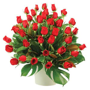 Red Rose Garden Funeral Flower Arrangement Sydney