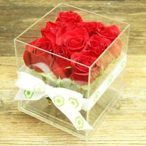 Romantic Red Rose Cube Delivered in Sydney