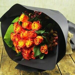 Saffron and Plum Roses