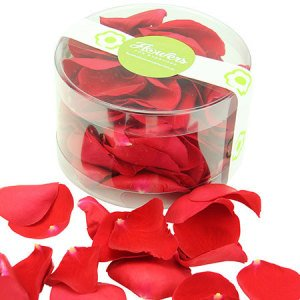 Scatter rose petals