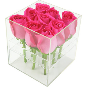 Scented pink rose box