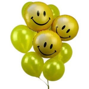 Smiley Face Balloon Bouquet
