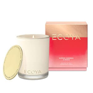 Summer Cherries and Peach ECOYA Candle Limited Edition