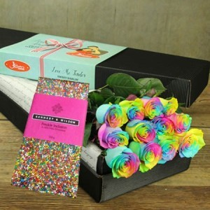 Sweet Rainbow Rose Special (Sydney Only)