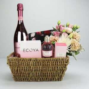 Sweet Rose and Bubbles Gift Basket