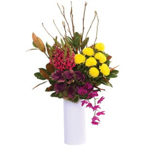 Tall and Bright Seasonal Vase