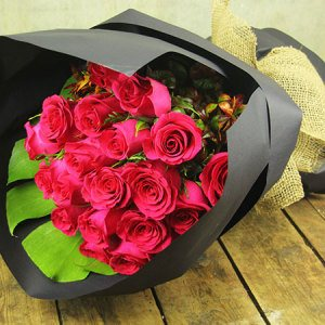 Think Pink Rose Bouquet Melbourne