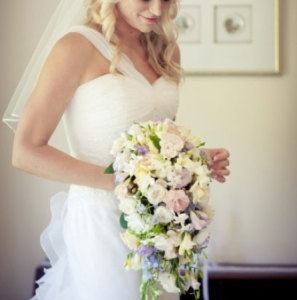 Medium Trailing Bridal Bouquet with Stephanotis