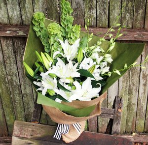 Tropic White Lily Bouquet