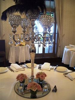 Tall Crystal Candelabra