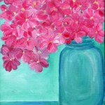 A beautiful painting of pink hydrangea. Yum! Same day flower delivery Australia