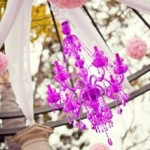 Radiant Orchid Pantone 2014 Colour of the Year - Chandelier Show Piece