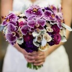 A bridal bouquet inspired by Pantone`s 2014 Colour of the Year, Radiant Orchid