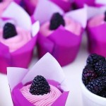 Cupcakes inspired by Pantone`s 2014 Colour of the Year, Radiant Orchid. Yum!