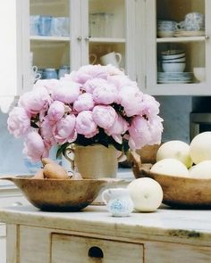 Peonies in the home