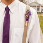 Radiant Orchid Pantone 2014 Colour of the Year Buttonhole Ideas