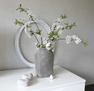 Simple blossom in vase