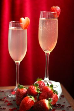 Sparkling Wine for Valentine`s