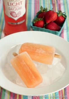 Tropical daquiri ice-blocks