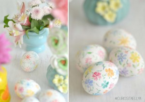 Pretty Pastel Decorated Easter Eggs
