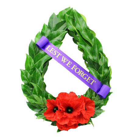 Anzac Day Wreath with Laurel