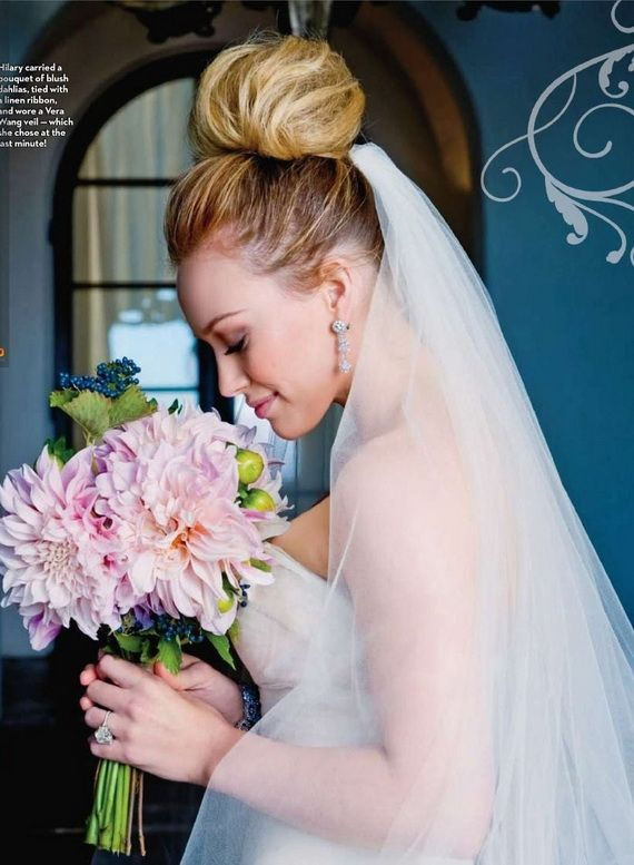 Hilary Duff wedding flowers
