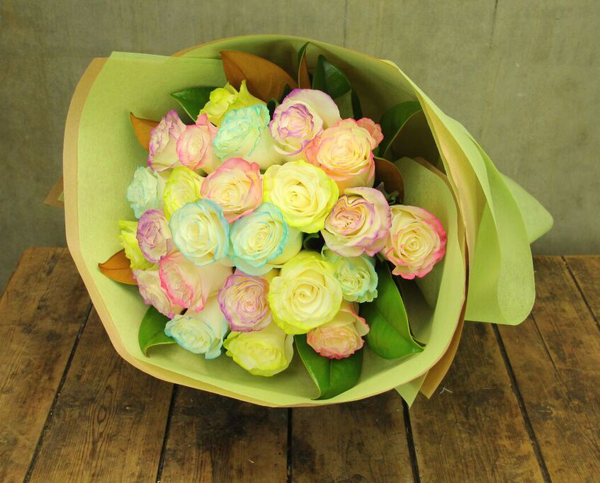 marshmallow rose bouquet cropped